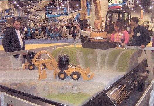 product model, topographic model, construction equipment model