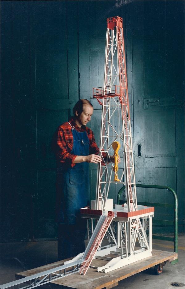 Oil Rig model 8' high
