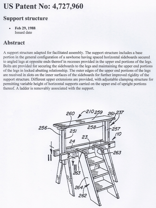 Sawhorse Patent