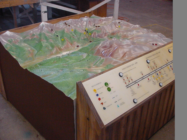 Topographic model Telluride