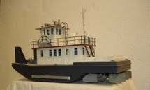 River tugboat model