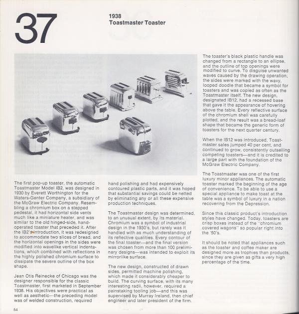 Toastmaster toaster 1938