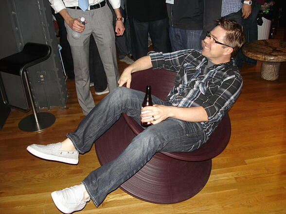Justin Eddings in the SPUN chair