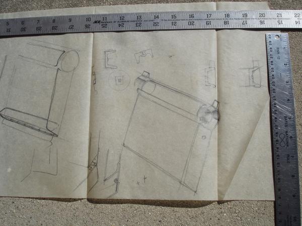 Loewy ashtray sketch