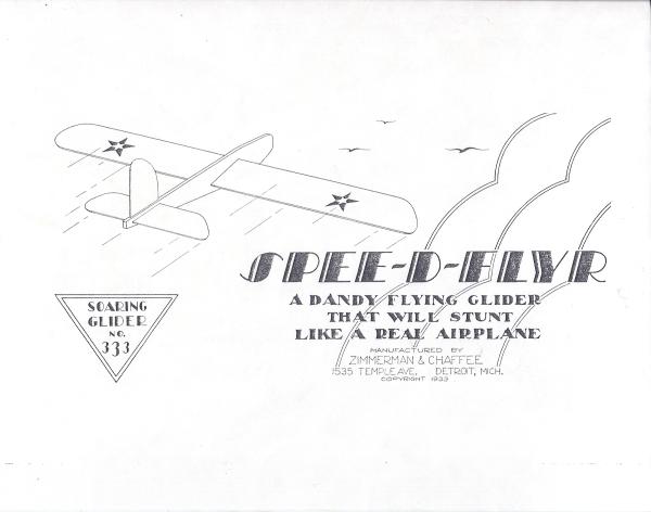 1933 SPEE-D-FLYR glider