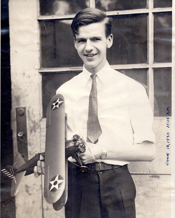 William Chaffee Boeing P-12B model airplane1930