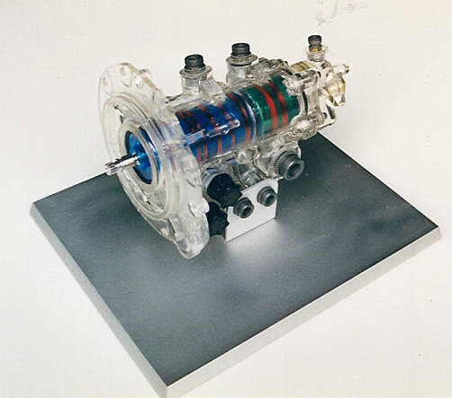 Aircraft oil pump with clear housing